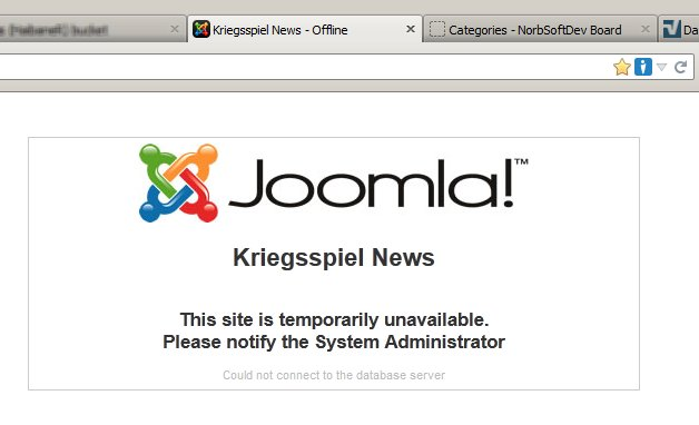 Web Site Down - From the 6th December - ?? December 2013 Offline